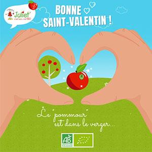 Juliet® souhaite un belle Saint-Valentin à tous les pommoureux