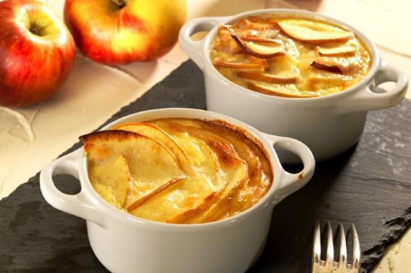 Clafoutis pommes Juliet® & tomme fermière